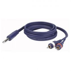 Câble LINE FL35 - Stereo JACK > 2 RCA Mâle L/R