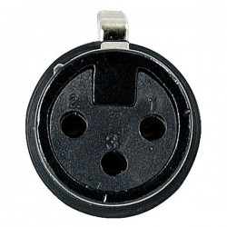 XLR 3p. Connector Female, Black housing