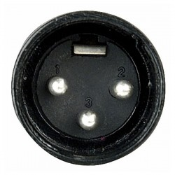 XLR 3p. Connector Male, Black housing
