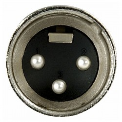 XLR 3p. Connector Male, Nickel housing