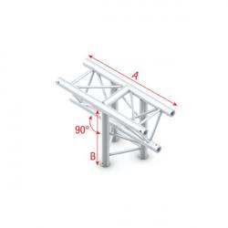 T-Cross vertical 3-way, apex down
