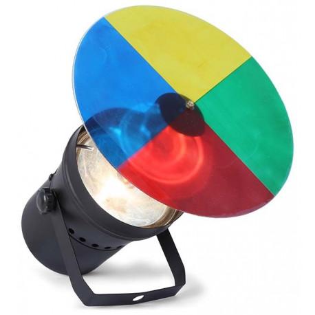 Set avec projecteur roue de couleurs