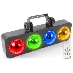 DJ Bank BX Barre avec 4x LEDs 3 W RGBA IR