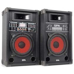 SPA800 PA Set d'enceintes actives 8P SD-USB-MP3