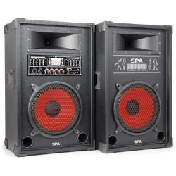 SPA1000 PA Set d'enceintes actives 10P SD-USB-MP3