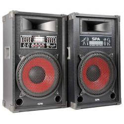 SPA1200 PA Set d'enceintes actives 12P SD-USB-MP3