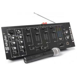 STM-3018A Table de mixage 6 canaux et amplificateur BT-VHF