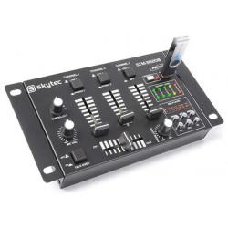 STM-3020B Table de mixage 6 canaux avec USB-MP3Noire
