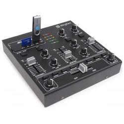 STM-2250 Mini table de mixage 4 canaux USB MP3 Effets Sound