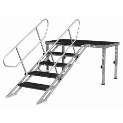 PLT-st80140 - Escalier réglable de 0,8m à 1,4m 5 marches